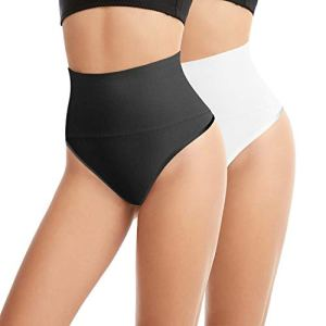 L&K-II Amincissante effet Minceur Slim String Bodyshaper pour Femme VDU3601 noir+blanc S/M