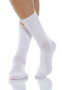 Relaxsan 560 (Blanc, Taille 1) Chaussettes pour diabétiques avec fibre naturelle Crabyon