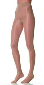 SCUDOTEX Collant 40 Deniers Soyeux Maille Lisse Compression Décroissante Légère 7-9 Hg mm Couleur Visone Taille 6