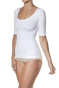 SLEEX T-Shirt Gainant, Blanc, Taille S/M (44036) – Gaine Sculptante et Gainante Ventre Plat