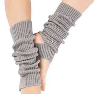Tukistore Femmes Filles Yoga Chaussettes Tricoté Longue Botte Chaussettes Boot Cover Crochet Longue Sport Jambières pour Danse, Yoga, Pilates, Fitness