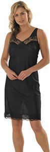 Marlon P106 Women's Freya Plain Full Slip Complet, Noir, Dix Femme