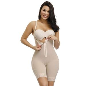 3°Amy Lingerie Sculptante Bodys Femmes Pleine Combinés Amincissants Underbust Minceur mi Cuisse Shaper Tummy Contrôle continu Postpartum Corps Ceinturon #a (Color : Longer Shaper Nude, Size : L)