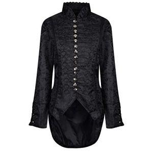 Ro Rox Corset Femme Gothique en Velours Brocart pour Femme – Brocart (FR 46)