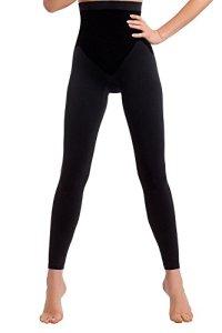 TESPOL Leggings Noir Femme Classiques Amincissants Push-up Technologie Seamless, Noir, XL (44)