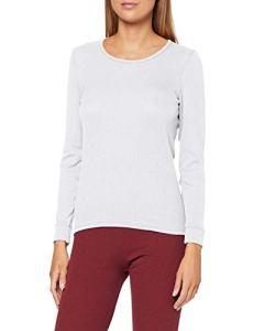 Damart Tee Shirt Manches Longues. Haut Thermique, Blanc (Blanc 56680-01010-), 42 (Taille Fabricant:M) Femme