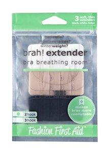 FASHION FIRST AID: Brah! Extender | Extension soutien-gorge | Rallonge fermeture soutien-gorge | 3 pièces 2 crochets