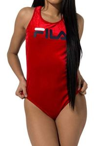 Fila Lupita Body dos nageur pour femme – Rouge – X-Large