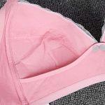 Homeriy – Soutien-gorge d'allaitement pour maternité – Soutien-gorge d'allaitement rembourré – Soutien-gorge d'allaitement pour femme – En dentelle de papillon – Bleu 85 – Rose – D