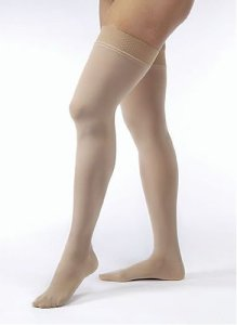 Jobst Opaque THIGH HIGH Firm Compression 20-30mmHg Petite M Closed-toe Silky Beige by Jobst