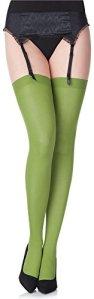 Merry Style Collant Bas en Microfibre Lingerie Sexy Sous-vêtements Femme 40 DEN MS 799 (Kiwi, XS-S)