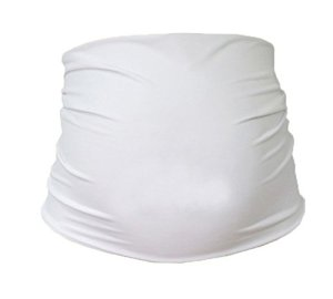 Mija – bande de ventre de maternité – 30 couleurs – Bande /ceinture de support 1024 (Blanc)