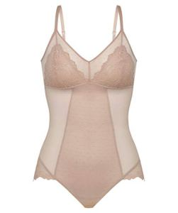 Spanx Spotlight on Lace Bodysuit Nuisette, Beige, M Femme