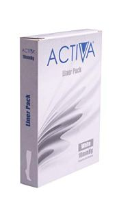 activa Lot de 3 Paires de Bas de Contention 10 mmHg – Blanc – XL