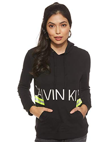 Calvin Klein L/s Hoodie Haut De Pyjama, Noir (Black 001), 38 (Taille fabricant: Small)