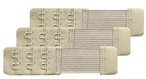 Chanie Femme Lot de 3 Doux Confortables Extensions de soutien-gorge 2 Crochets, 10,4cm x 2,5cm