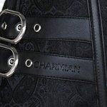 Charmian Women's Steel Boned Steampunk Gothic Vintage Embroidery Overbust Corset Plus Size Black XXX-Large