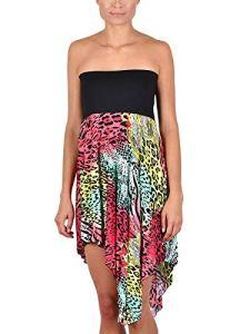 Cybele – Jupe ou Robe de Plage 7-740015 – Femme – Noir – Multicolore – FR 38/40