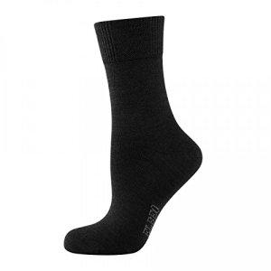 ELBEO Chaussettes Classic Wool Sensitive Lot de 3 – Noir –