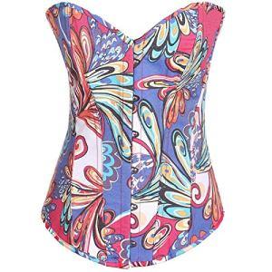 Femme Taille Haute Jupe Sculptante Amincissante Ventre Plat Body Shapewear Skirt blueXL