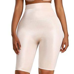 Femme Taille Haute Jupe Sculptante Amincissante Ventre Plat Body Shapewear Skirt colorXL