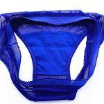 GUANGYING Culotte élastique transparente sexy pour femme en maille de coton entrejambe solide Kaki L