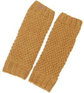 Guru-Shop Jambières en laine avec motif perlé, unisexe, taille unique, chaussettes et jambières – Jaune – One Size