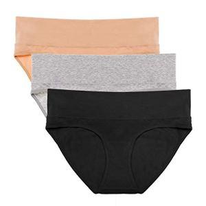 Intimate Portal Femme Slip Échancré Vraiment à l'aise avec Modal Coton, Douceur et Légèreté (Lot de 3) Noir FR XXL/Label 4L