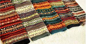 Jambières d'hiver au-dessus du genou – En tricot – Style chic et chaud – Rayures – Couleur : C
