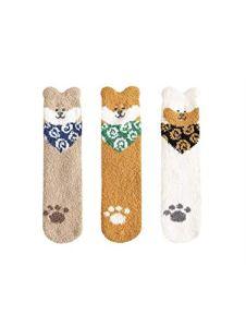 JMDS Chaussettes moelleuses floues douces dames pantoufles confortables chaussettes hiver en peluche épais anti-dérapant chaussettes de sommeil chaudes chaussettes de sol