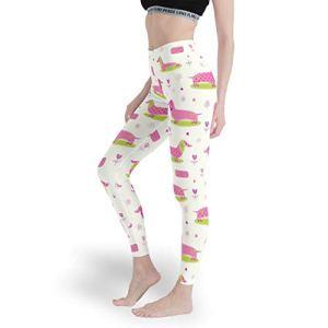 Legging multicolore pour femme motif teckel – Blanc – XS