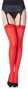 Merry Style Collant Bas en Microfibre Lingerie Sexy Sous-vêtements Femme 40 DEN MS 799 (Rouge, XL-XXL)