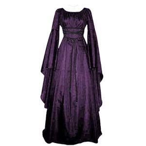 ReooLy Robe de soirée Longue à Manches Longues pour Femme Grande Taille – Violet – Small
