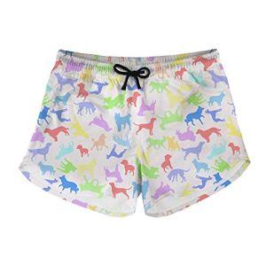 Short de bain Modega pour femme – Tissu doux non délavé – Avec cordon de serrage réglable – Avec poches pour les activités de plage – – XL