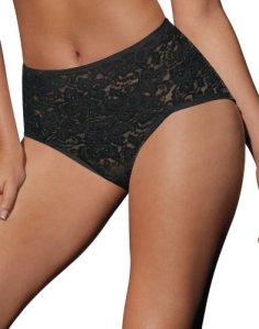 Bali Women's Shapewear Lace 'N Smooth Brief, Black, XX-Large