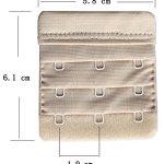 Chanie Femme Lot de 3 Doux Confortables Extensions de soutien-gorge 3 Crochets, 6,1cm x 5,8cm