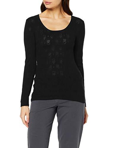 Damart Tee Shirt Manches Longues Haut Thermique, (Noir 56678-17010-), 34 (Taille Fabricant:XS) Femme