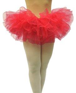Dancina Jupe Tutu – 5 Couches de Organza Tulle – Femme Rouge