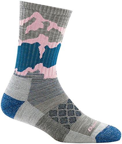 Darn Tough Three Peaks Micro Crew Light Cushion Sock – Women's Light Gray Medium