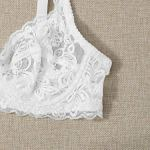 Floerns Women's Push Up Underwire Lace Bra White L