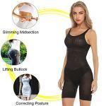 Hawiton Femme Gaine Amincissante Body Gainant Ventre Plat Lingerie Gainante Minceur Combinaisons Sculptantes Noir XXL/Tour de Taille:87-93cm,Poids:80-90kg