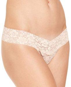 Jenni String doublé en dentelle pour femme – Beige – X-Large