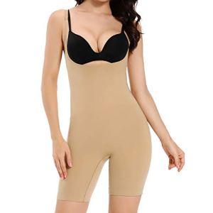 Joyshaper Corset pour femme Ventre Chemin Body Shaper Tummy Control Bodysuit Gainant Gainant Gainant Gainant Taille Sans Couture Sous-vêtements – Beige – Medium