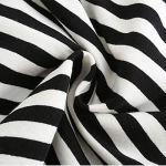 Mini jupe réglable pour femme – Noir – Rayures – Taille S