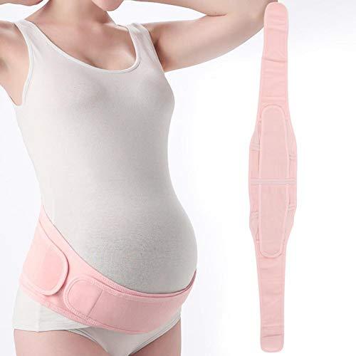 SALUTUYA Ceinture élastique de Soutien de maternité Ceinture orthodontique pelvienne Douce pour la Peau Taille Moyenne(Pink, One Size)