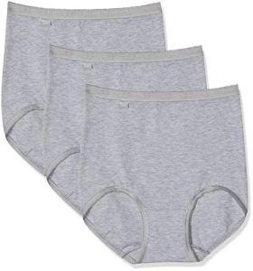 Sloggi Basic+ Maxi 3p, Culotte Femme, Gris (Grey Combination M), 40 (Taille Fabricant: 10)