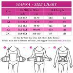 YIANNA Femme Ajustable Ceintures de Sudation Elastique Corset Minceur Waist Trainer Pourpre,UK-YA8002-Purple-2XL