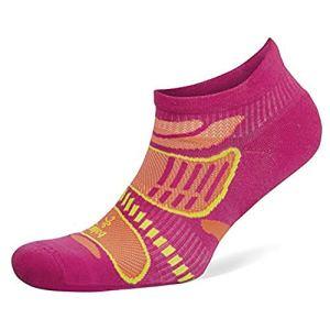 Balega Chaussettes unisexes ultralégères No Show Rose électrique/mandarine, taille S