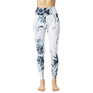 bayrick Pantalon de Yoga Confortable et Respirant pour,Pantalon de Yoga High Taille Taille serrée Harpes Femelle Hors Sports Fitness Vêtements-ré_S