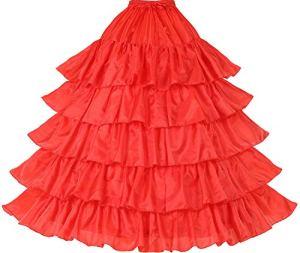BEAUTELICATE Jupon Crinoline Mariage Petticoat Rockabilly de Femme Long Vintage Année 50 pour Robe de Mariée Soirée 4 Cerveaux 5 Couches